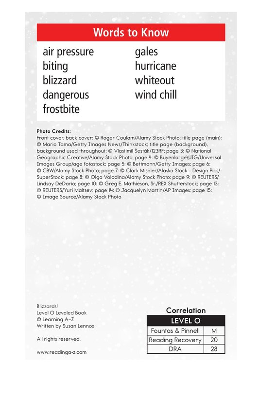 Book Preview For Blizzards! Page 2