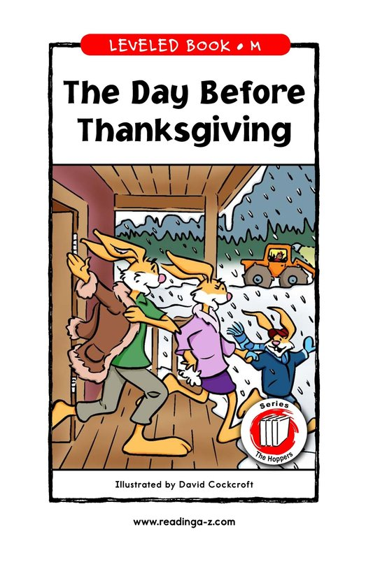 Book Preview For The Day Before Thanksgiving Page 1