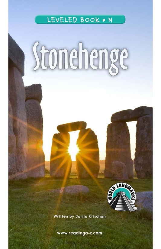 Book Preview For Stonehenge Page 0