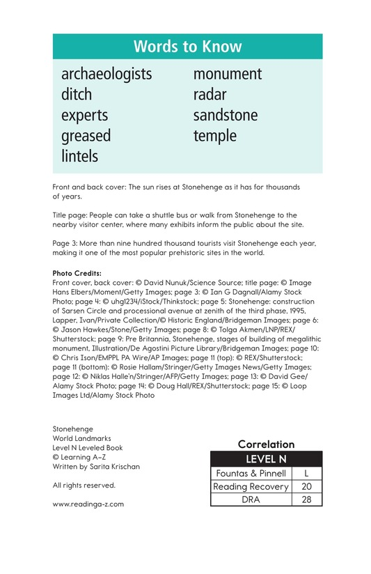Book Preview For Stonehenge Page 2