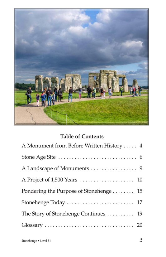 Book Preview For Stonehenge Page 3