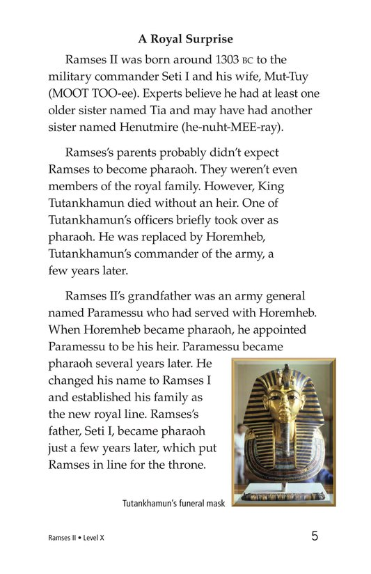 Book Preview For Ramses II Page 5