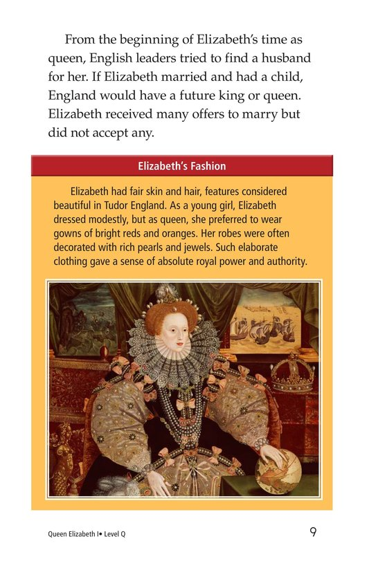 Book Preview For Queen Elizabeth I Page 9