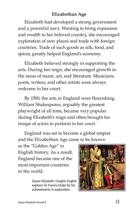 Book Preview For Queen Elizabeth I Page 13