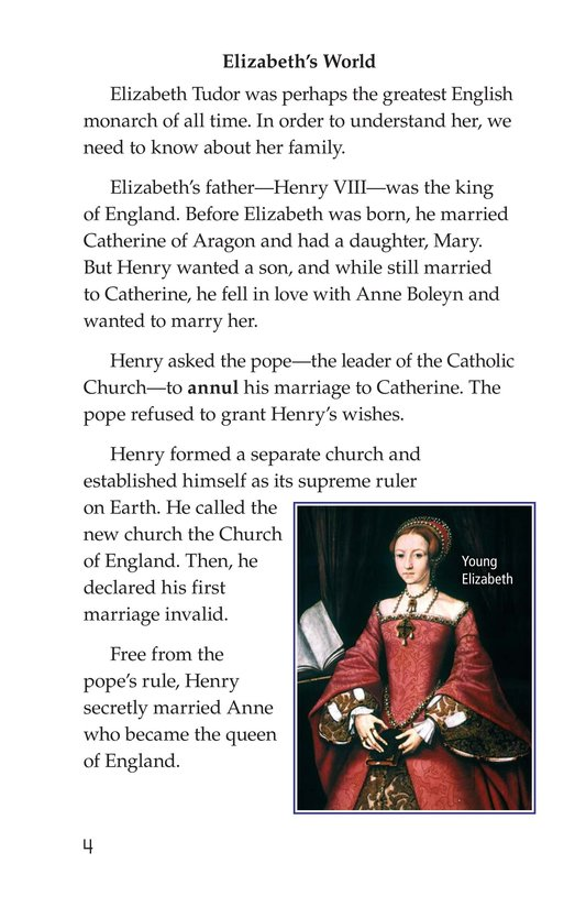 Book Preview For Queen Elizabeth I Page 4