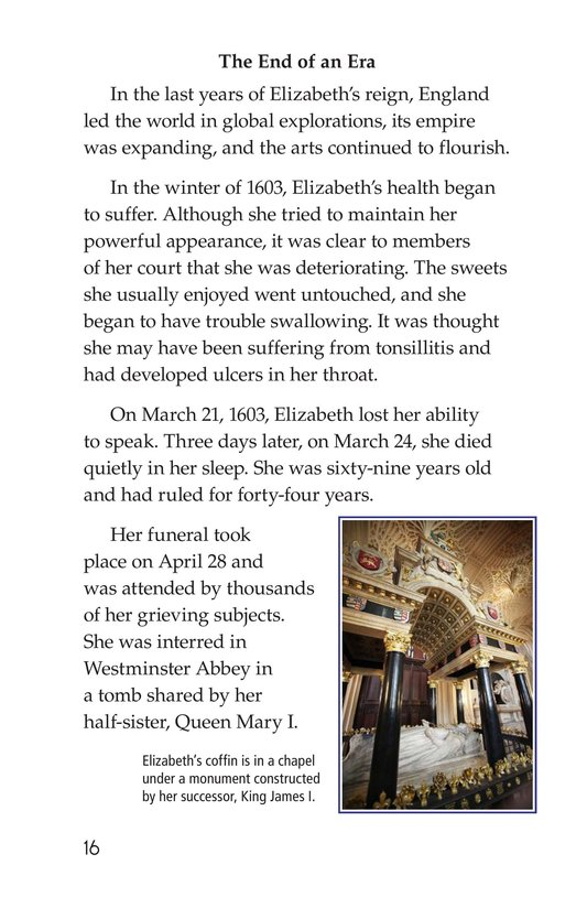 Book Preview For Queen Elizabeth I Page 16