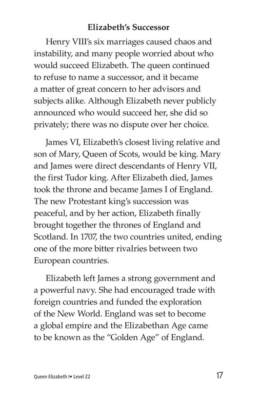 Book Preview For Queen Elizabeth I Page 17