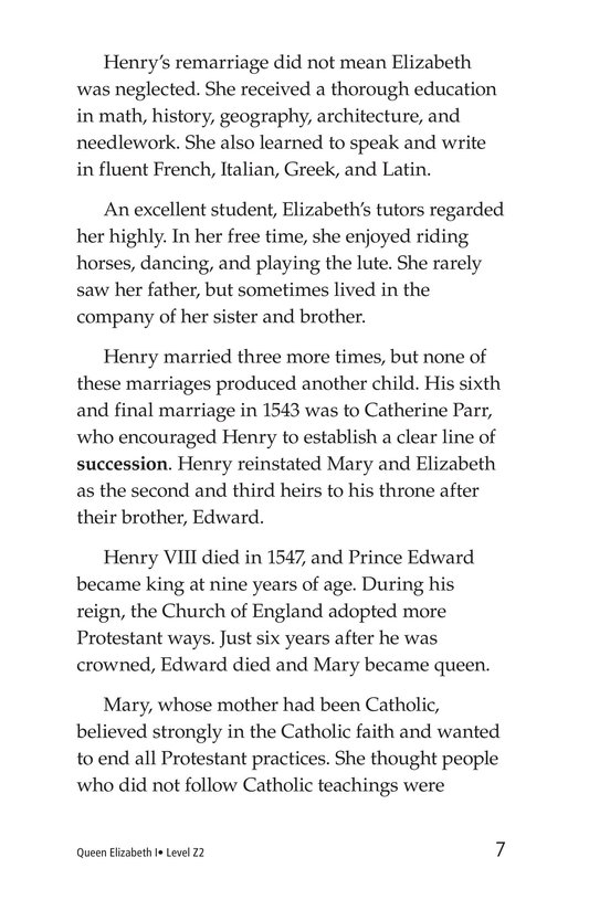 Book Preview For Queen Elizabeth I Page 7