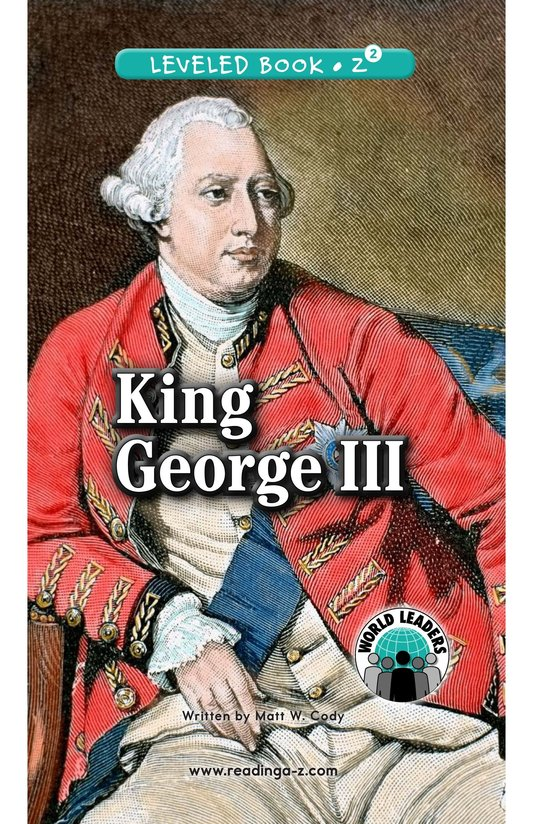 Book Preview For King George III Page 0