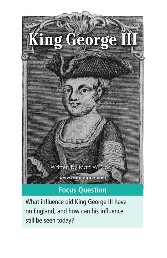 Book Preview For King George III Page 1
