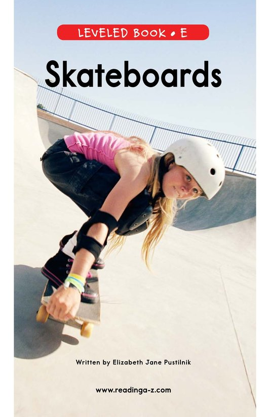 Book Preview For Skateboards Page 0