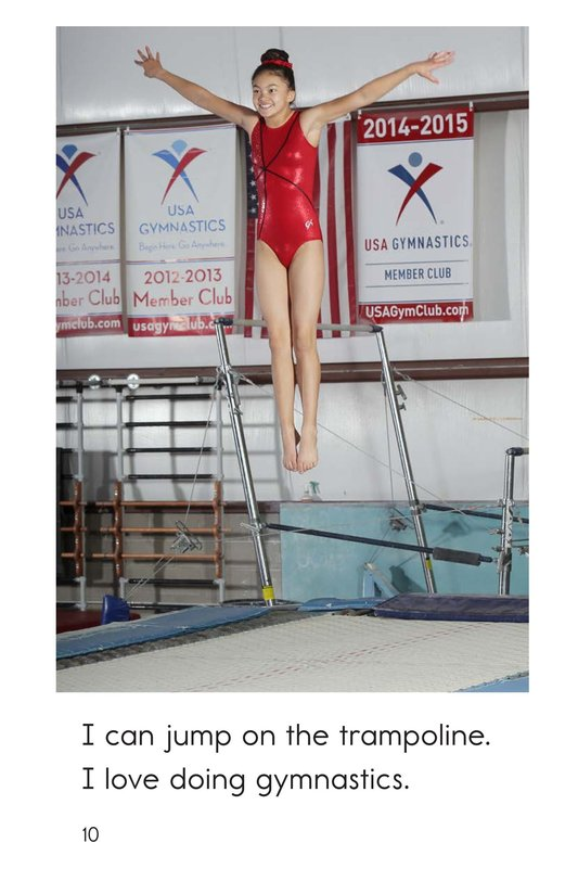 Book Preview For I Am a Gymnast Page 10