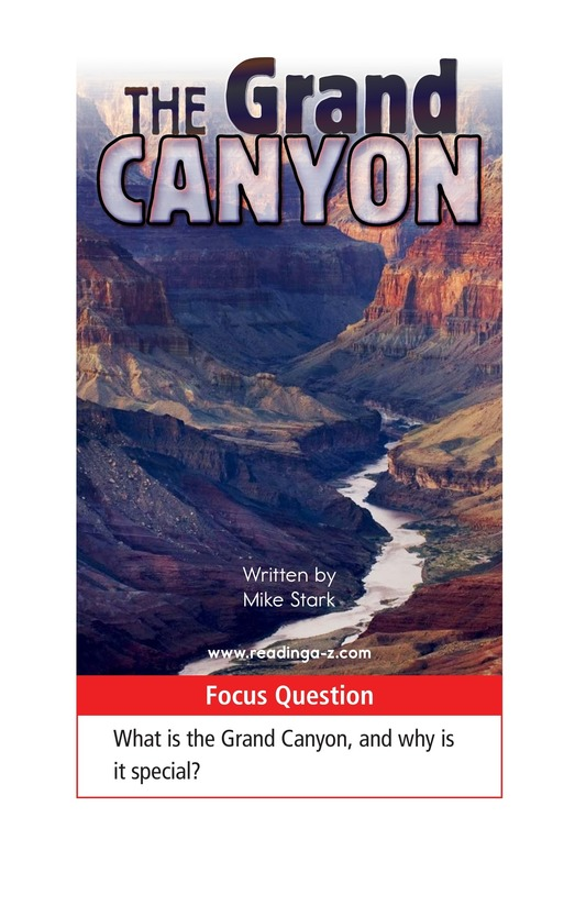 Book Preview For The Grand Canyon Page 1
