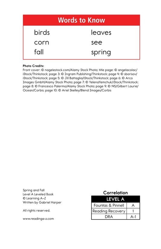 Book Preview For Spring and Fall Page 2