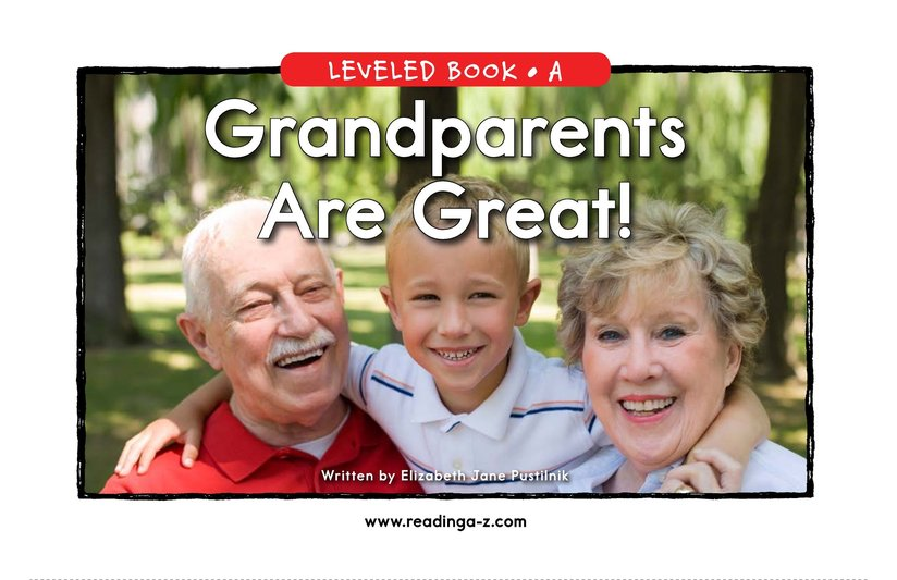 Book Preview For Grandparents are Great! Page 0