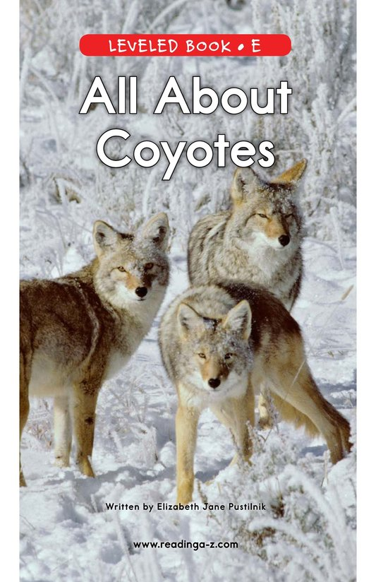 Book Preview For All About Coyotes Page 0