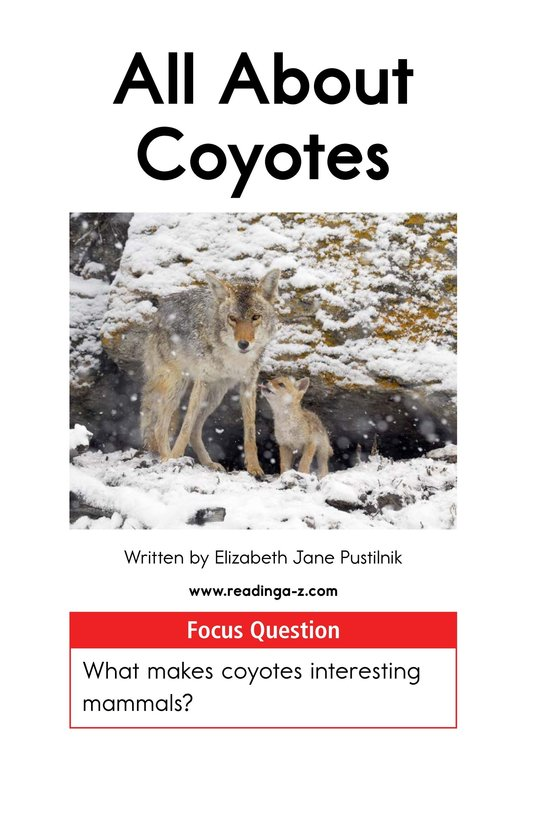 Book Preview For All About Coyotes Page 1