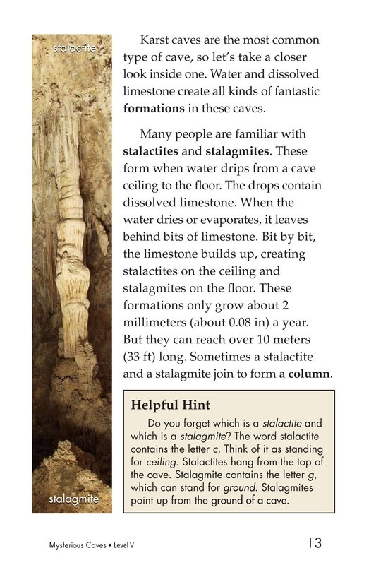 Book Preview For Mysterious Caves Page 13
