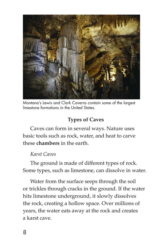 Book Preview For Mysterious Caves Page 8