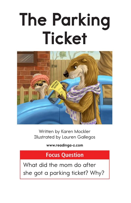 Book Preview For The Parking Ticket Page 1