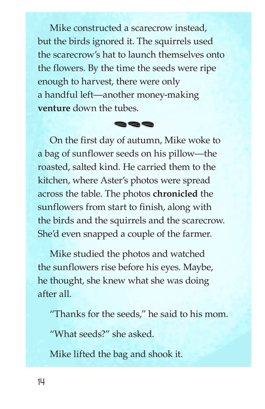 Book Preview For Book 3: Seeds and Sunflowers Page 14