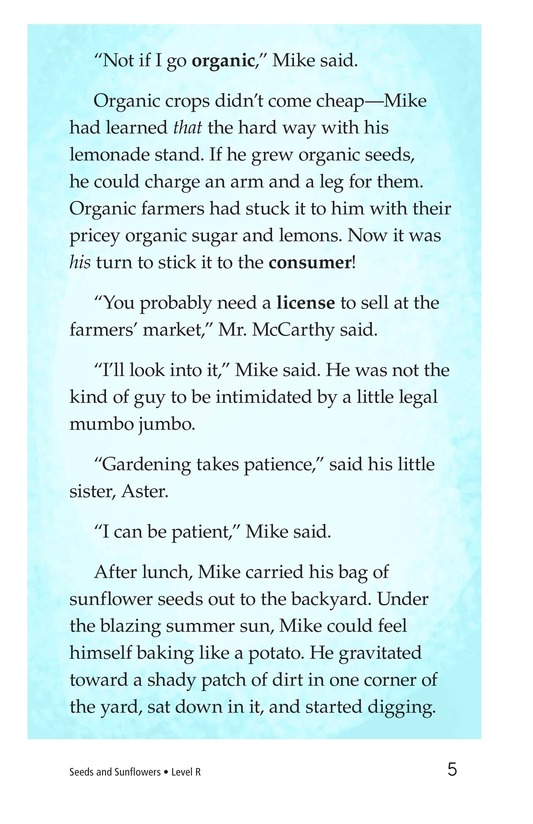 Book Preview For Book 3: Seeds and Sunflowers Page 5
