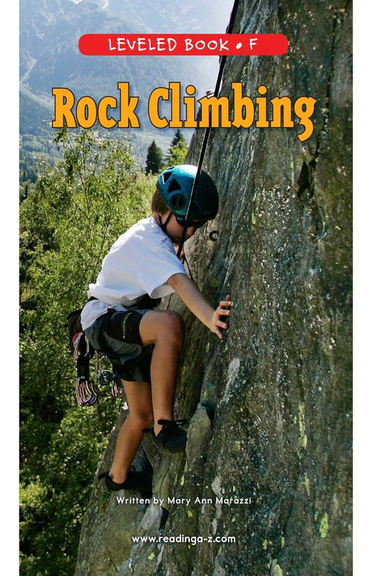 Book Preview For Rock Climbing Page 0