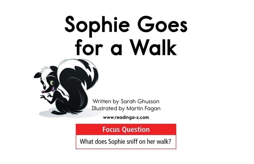 Book Preview For Sophie Goes for a Walk Page 1