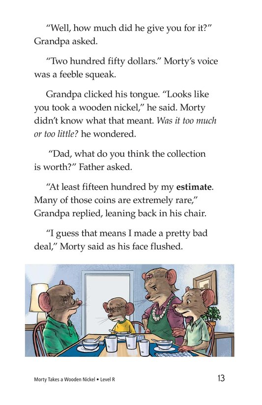 Book Preview For Morty Takes a Wooden Nickel Page 13