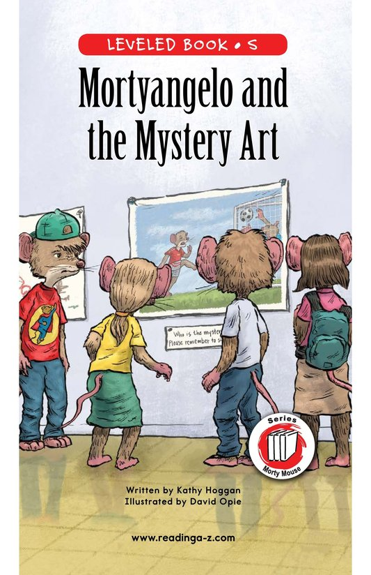 Book Preview For Mortyangelo and the Mystery Art Page 0