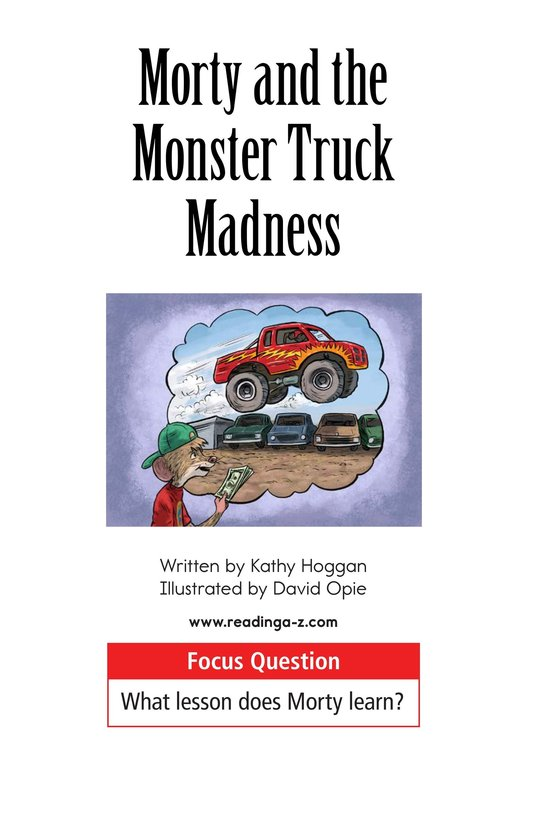 Book Preview For Morty and the Monster Truck Madness Page 1