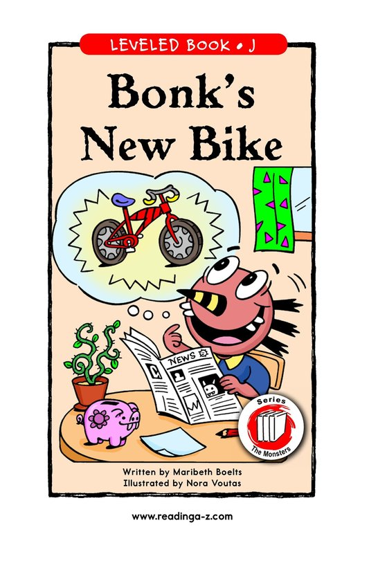 Book Preview For Bonk's New Bike Page 1