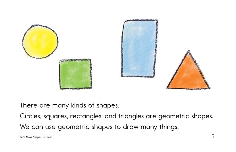 Book Preview For Let's Make Shapes! Page 5