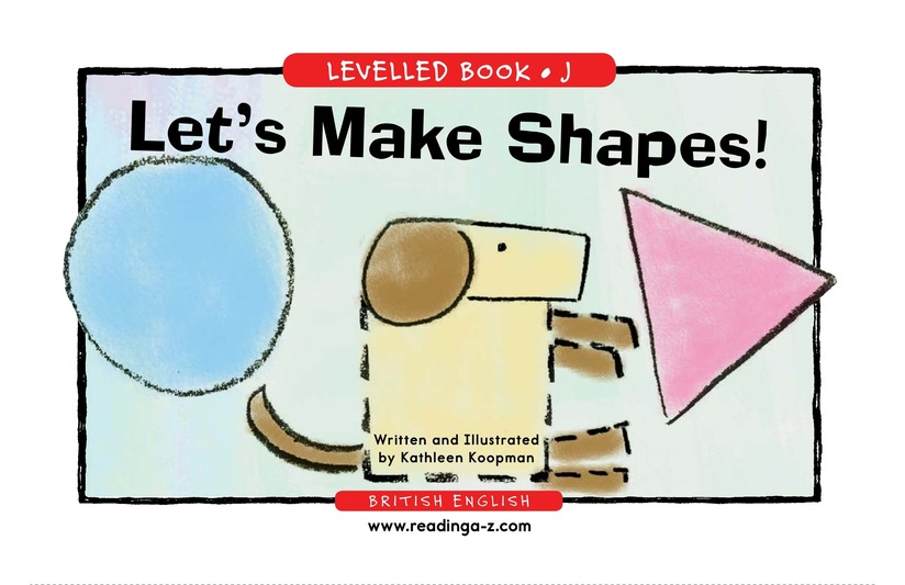 Book Preview For Let's Make Shapes! Page 1