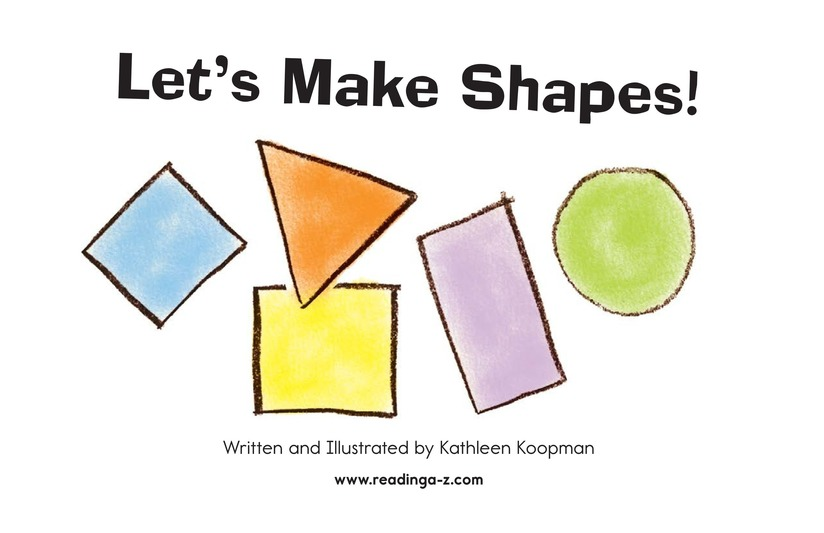 Book Preview For Let's Make Shapes! Page 2
