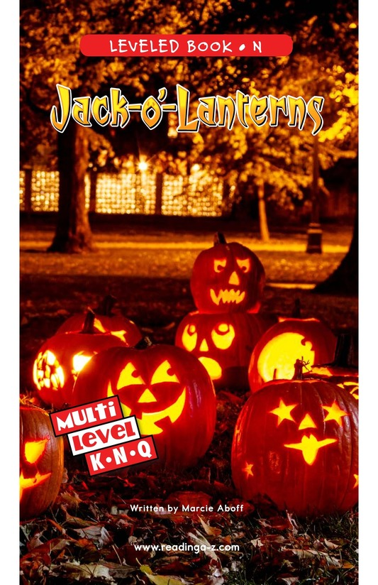 Book Preview For Jack-o'-Lanterns Page 0