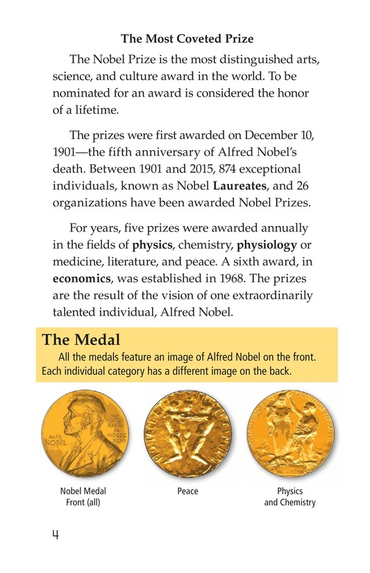 Book Preview For The Nobel Prize Page 4