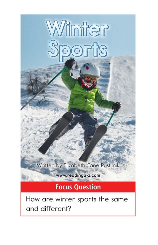 Book Preview For Winter Sports Page 1