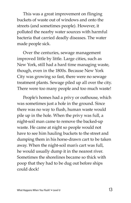 Book Preview For What Happens When You Flush? Page 13