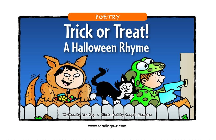 Book Preview For Trick or Treat! A Halloween Rhyme Page 1