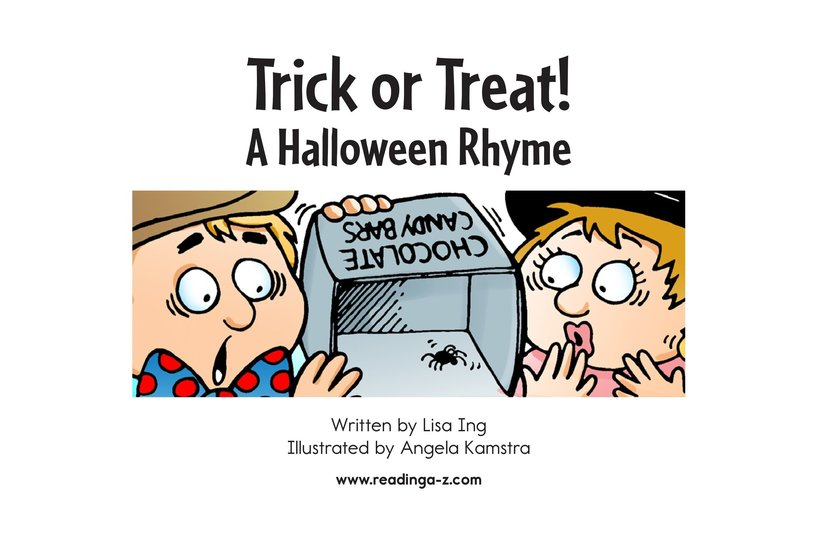 Book Preview For Trick or Treat! A Halloween Rhyme Page 2