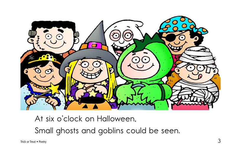 Book Preview For Trick or Treat! A Halloween Rhyme Page 3