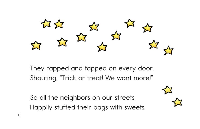 Book Preview For Trick or Treat! A Halloween Rhyme Page 4
