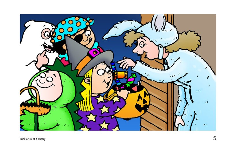 Book Preview For Trick or Treat! A Halloween Rhyme Page 5