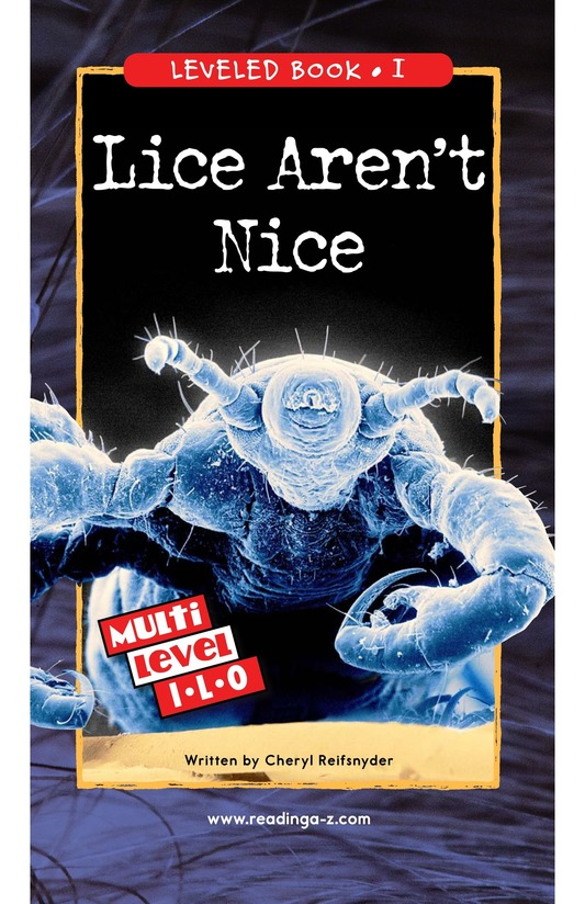 Book Preview For Lice Aren't Nice Page 0
