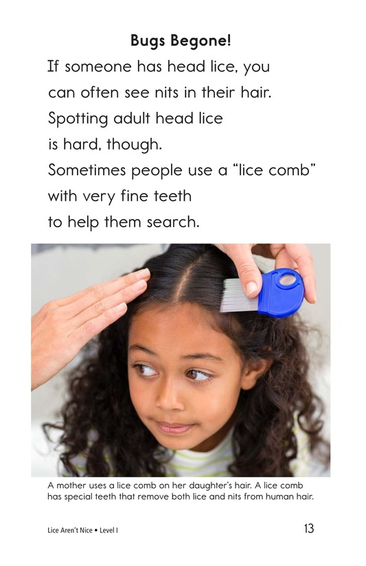 Book Preview For Lice Aren't Nice Page 13