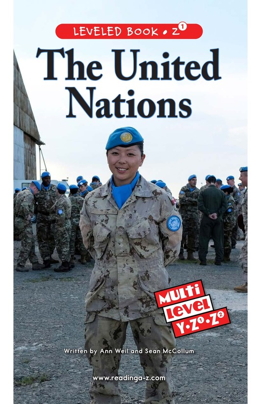Book Preview For The United Nations Page 0