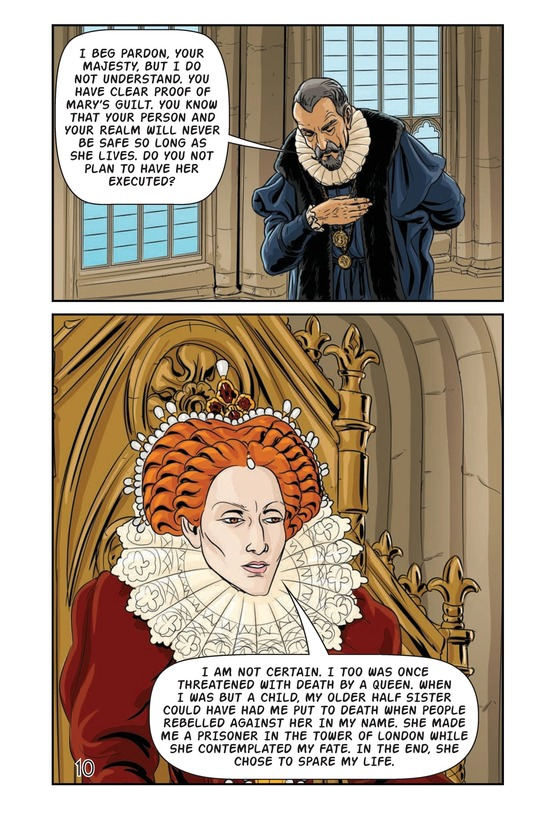 Book Preview For Elizabeth and Mary: Queen Versus Queen Page 11