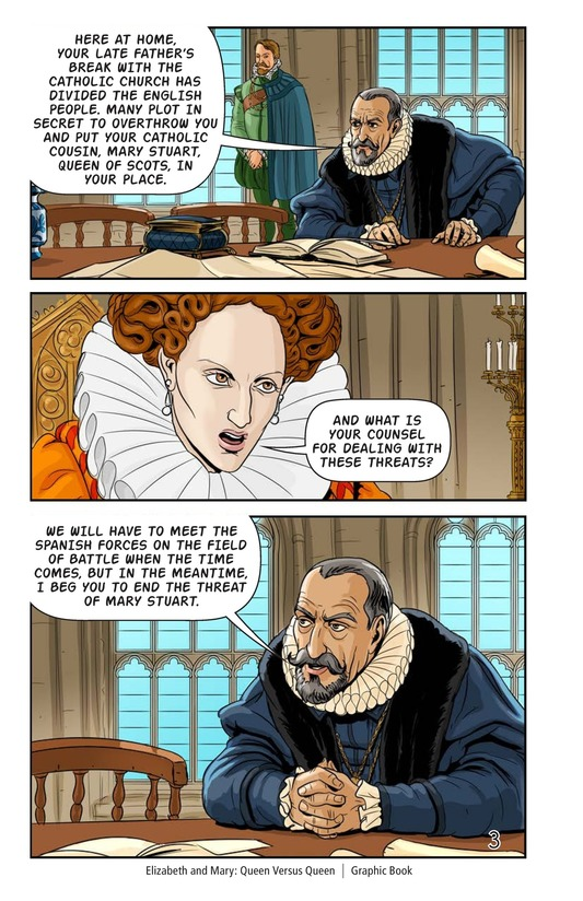 Book Preview For Elizabeth and Mary: Queen Versus Queen Page 4