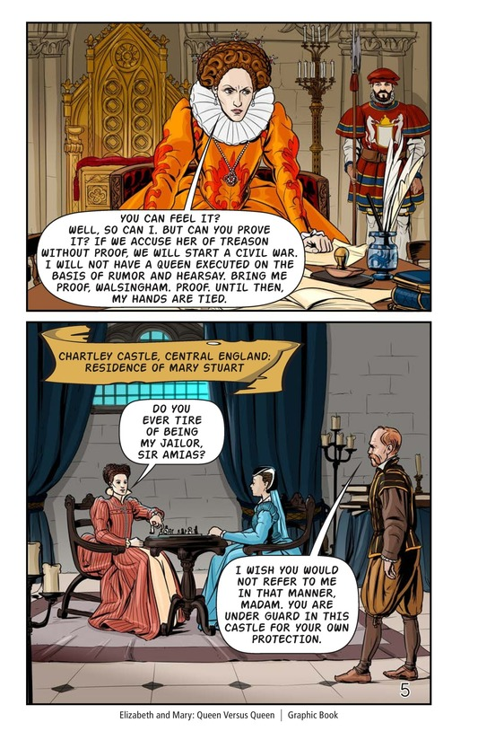 Book Preview For Elizabeth and Mary: Queen Versus Queen Page 6
